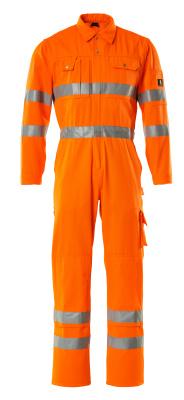 00419-860-14 Tuta da lavoro con tasche porta-ginocchiere - arancio hi-vis
