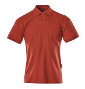 00783-260-02 Polo con tasca sul petto - rosso