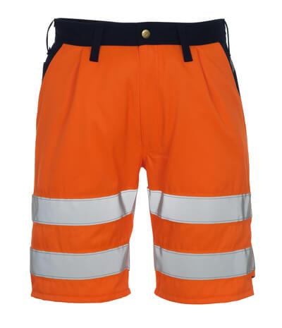 00949-860-141 Pantalone corto - arancio hi-vis/blu navy