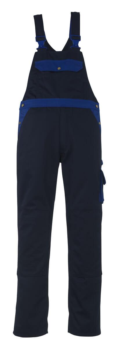 00969-430-111 Salopette con tasche porta-ginocchiere - blu navy/blu royal