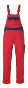 00969-430-21 Salopette con tasche porta-ginocchiere - rosso/blu navy