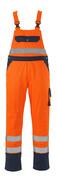 00969-860-141 Salopette con tasche porta-ginocchiere - arancio hi-vis/blu navy
