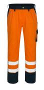 00979-860-141 Pantaloni con tasche porta-ginocchiere - arancio hi-vis/blu navy