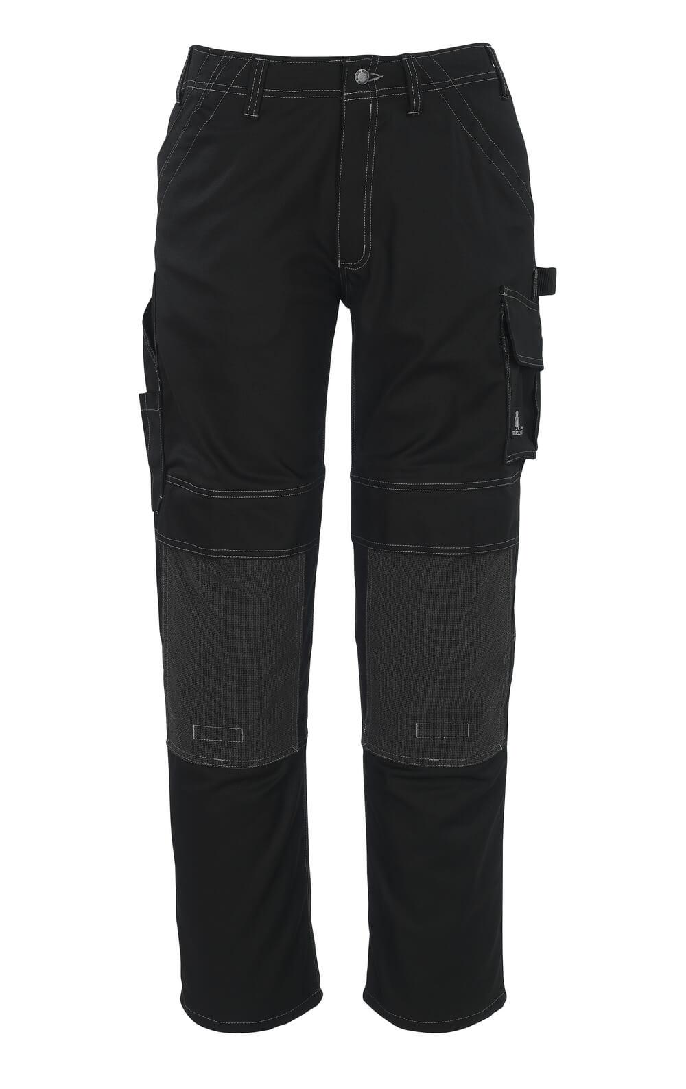05079-010-09 Pantaloni con tasche porta-ginocchiere - nero
