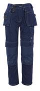 06131-630-01 Pantaloni con tasche porta-ginocchiere e tasche esterne - blu navy