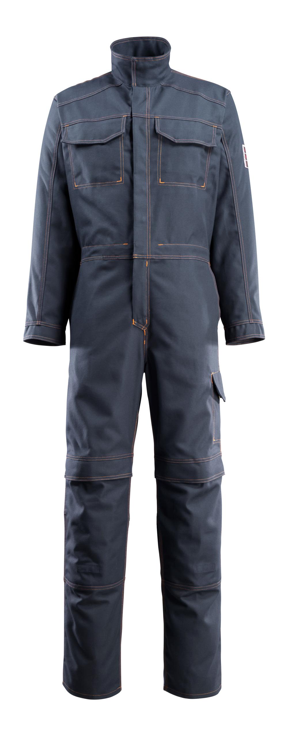 06619-135-010 Tuta da lavoro con tasche porta-ginocchiere - blu navy scuro