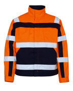 07109-860-141 Giacca - arancio hi-vis/blu navy