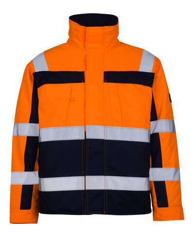 07123-126-141 Giacca da pilota - arancio hi-vis/blu navy
