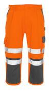 07149-860-14888 ¾ Lunghezza Pantaloni con tasche porta-ginocchiere - arancio hi-vis/antracite
