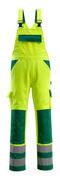 07169-470-1703 Salopette con tasche porta-ginocchiere - giallo hi-vis/verde