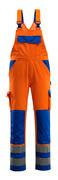 07169-860-1411 Salopette con tasche porta-ginocchiere - arancio hi-vis/blu royal