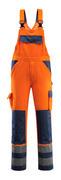 07169-860-141 Salopette con tasche porta-ginocchiere - arancio hi-vis/blu navy