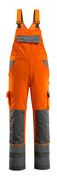07169-860-14888 Salopette con tasche porta-ginocchiere - arancio hi-vis/antracite