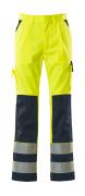 07179-470-171 Pantaloni con tasche porta-ginocchiere - giallo hi-vis/blu navy