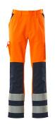 07179-860-141 Pantaloni con tasche porta-ginocchiere - arancio hi-vis/blu navy