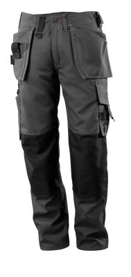 07379-154-09 Pantaloni con tasche porta-ginocchiere e tasche esterne - nero