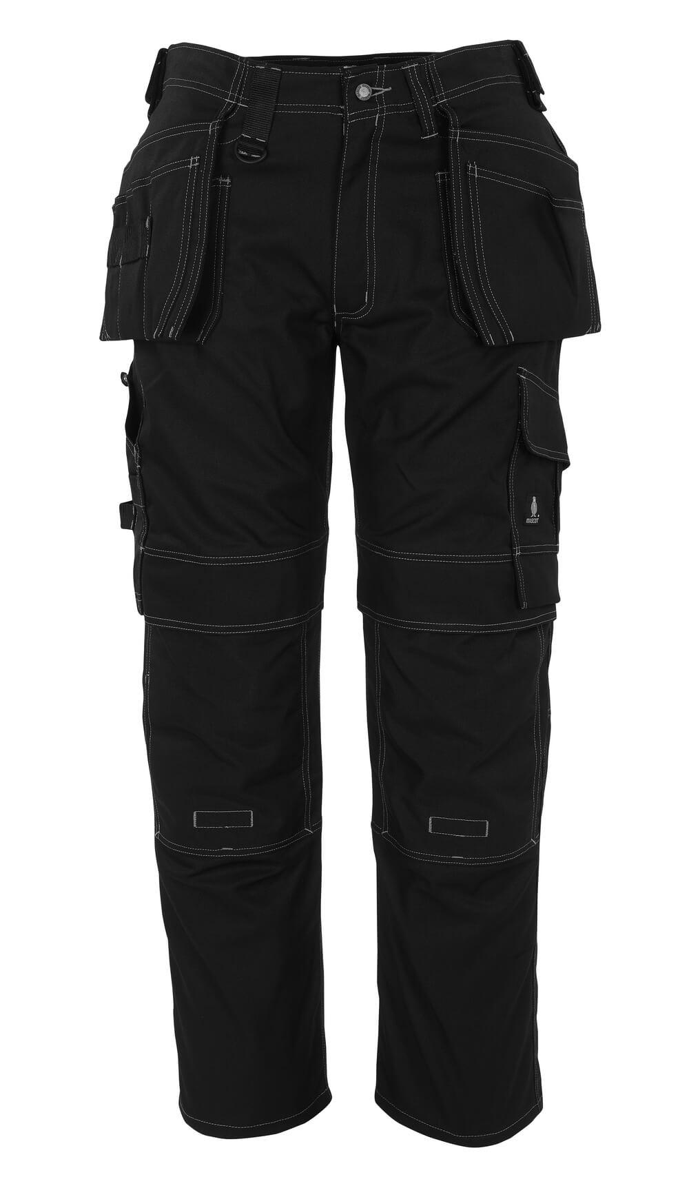 08131-010-09 Pantaloni con tasche porta-ginocchiere e tasche esterne - nero