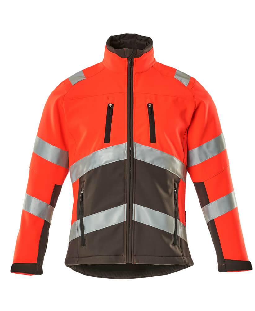 09001-183-A49 Giacca Softshell - rosso hi-vis/antracite scuro