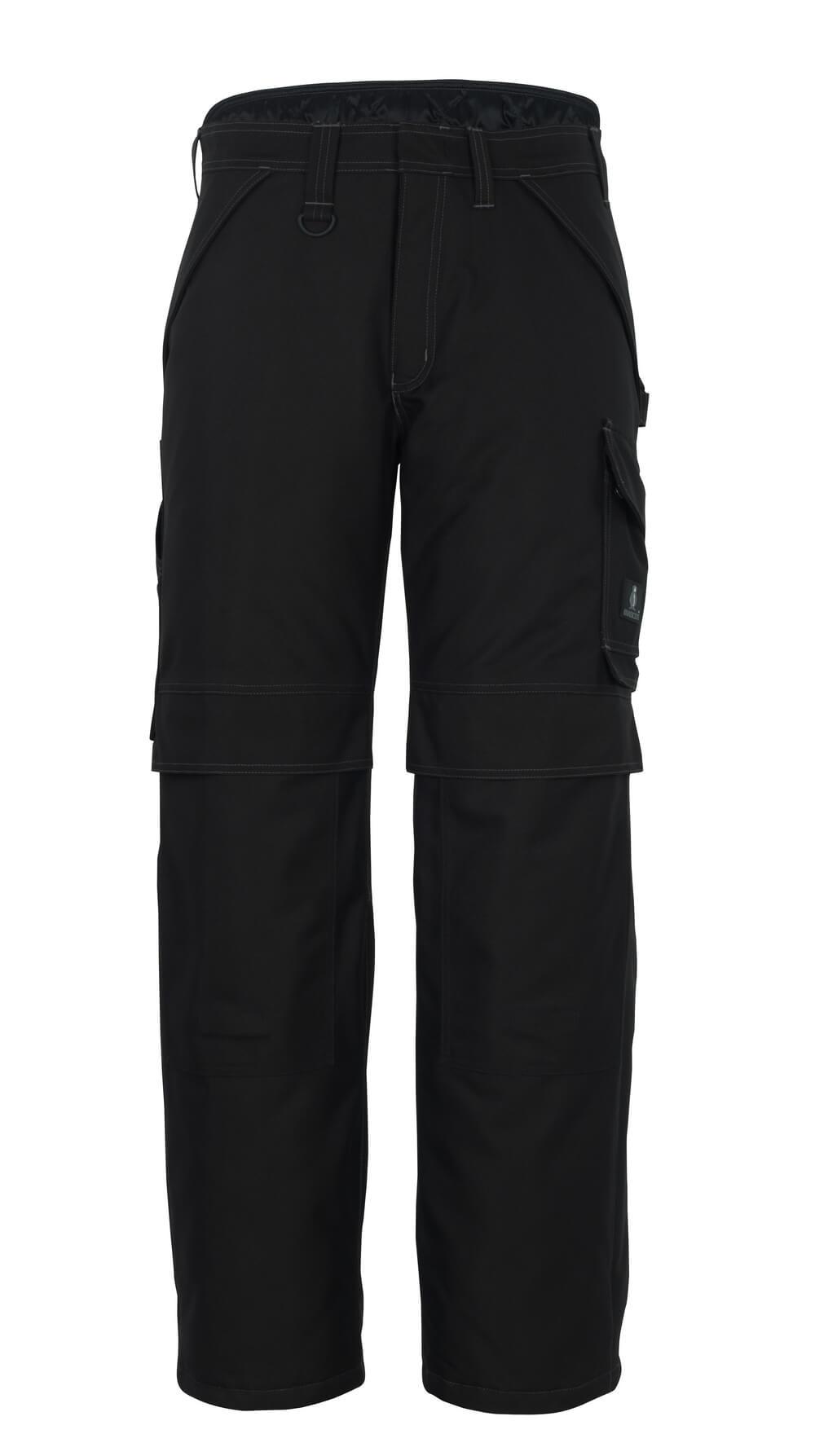 10090-194-09 Pantaloni antifreddo con tasche porta-ginocchiere - nero