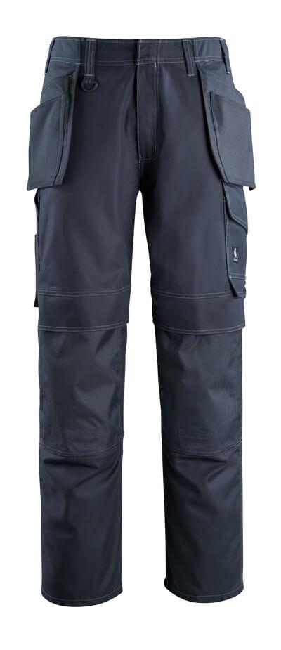 10131-154-010 Pantaloni con tasche porta-ginocchiere e tasche esterne - blu navy scuro