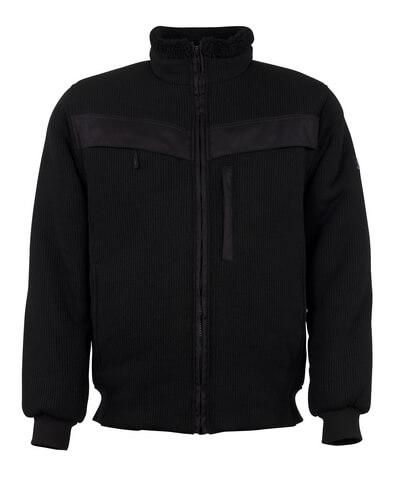 11043-600-09 Giacca in maglia con chiusura lampo - nero