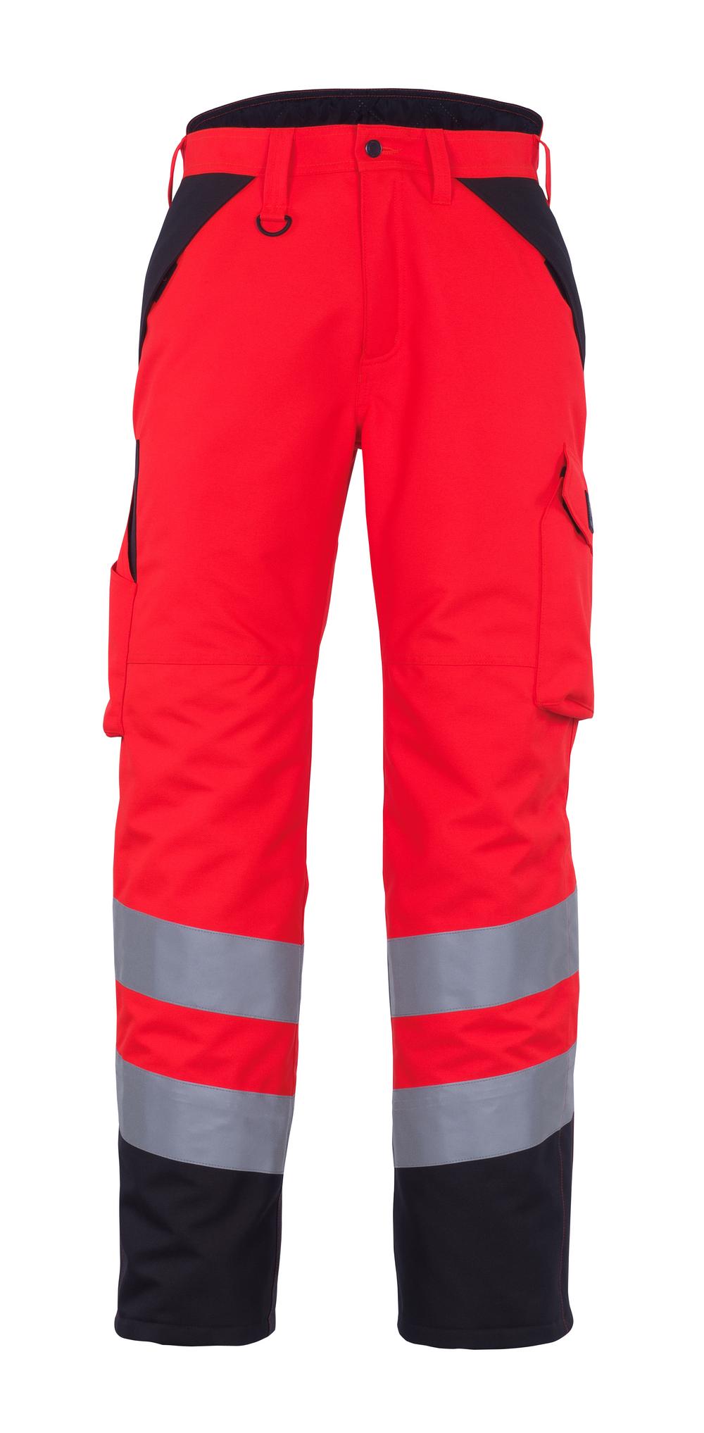 11090-025-A49 Pantaloni antifreddo - rosso hi-vis/antracite scuro