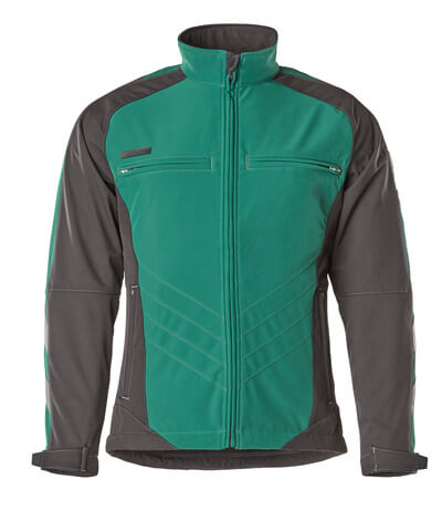 12002-149-1809 Giacca Softshell - antracite scuro/nero