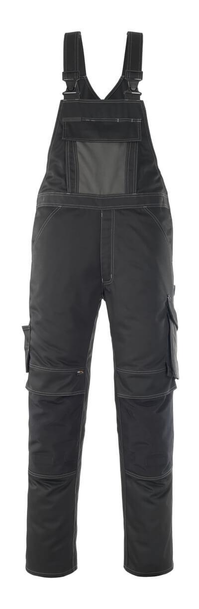 12069-203-0918 Salopette con tasche porta-ginocchiere - nero/antracite scuro