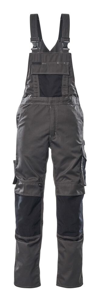12169-442-1809 Salopette con tasche porta-ginocchiere - antracite scuro/nero