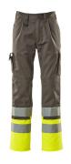 12379-430-88817 Pantaloni con tasche porta-ginocchiere - antracite/giallo hi-vis