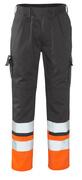12379-430-B01 Pantaloni con tasche porta-ginocchiere - antracite/arancio hi-vis