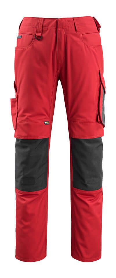 12679-442-0918 Pantaloni con tasche porta-ginocchiere - nero/antracite scuro