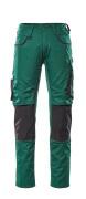 13079-230-0309 Pantaloni con tasche porta-ginocchiere - verde/nero