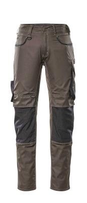 13079-230-1809 Pantaloni con tasche porta-ginocchiere - antracite scuro/nero
