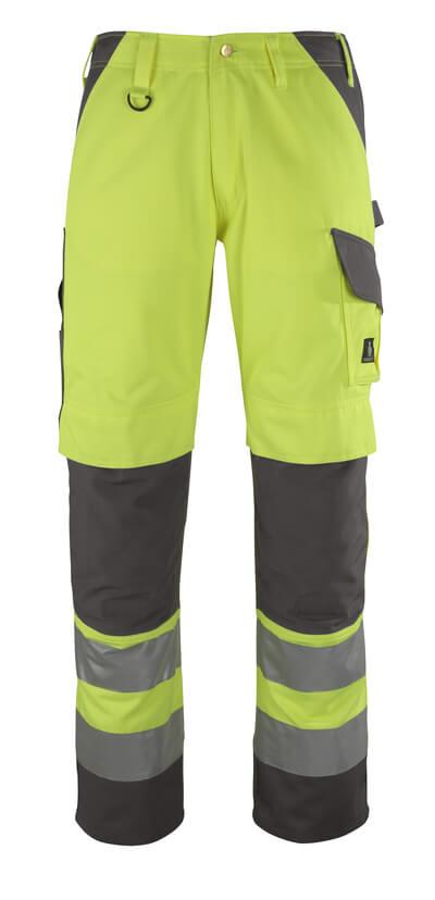 13479-470-17888 Pantaloni con tasche porta-ginocchiere - giallo hi-vis/antracite