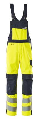 13869-216-17010 Salopette con tasche porta-ginocchiere - giallo hi-vis/blu navy scuro