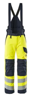 13892-217-17010 Pantaloni antifreddo - giallo hi-vis/blu navy scuro