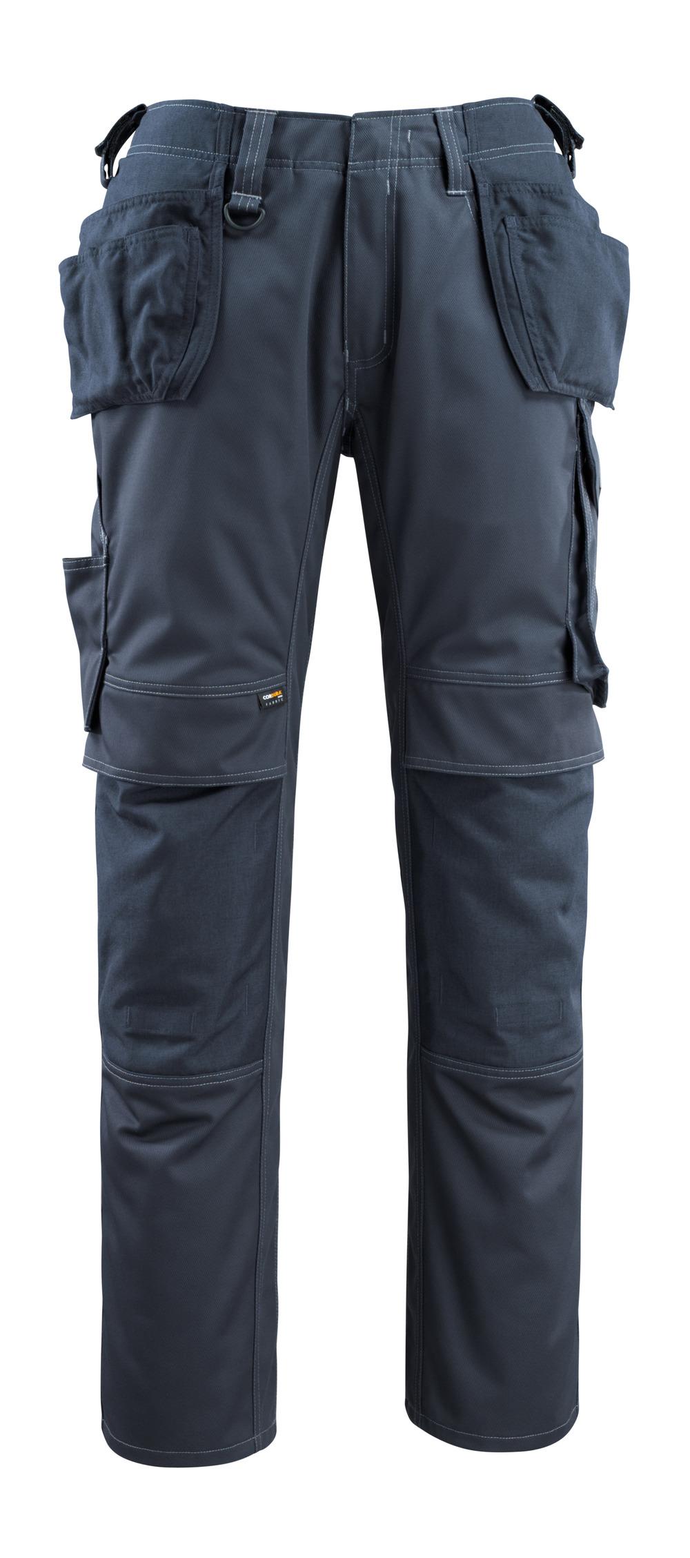 14131-203-010 Pantaloni con tasche porta-ginocchiere e tasche esterne - blu navy scuro