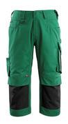 14149-442-0309 ¾ Lunghezza Pantaloni con tasche porta-ginocchiere - verde/nero