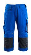 14149-442-11010 ¾ Lunghezza Pantaloni con tasche porta-ginocchiere - blu royal/blu navy scuro