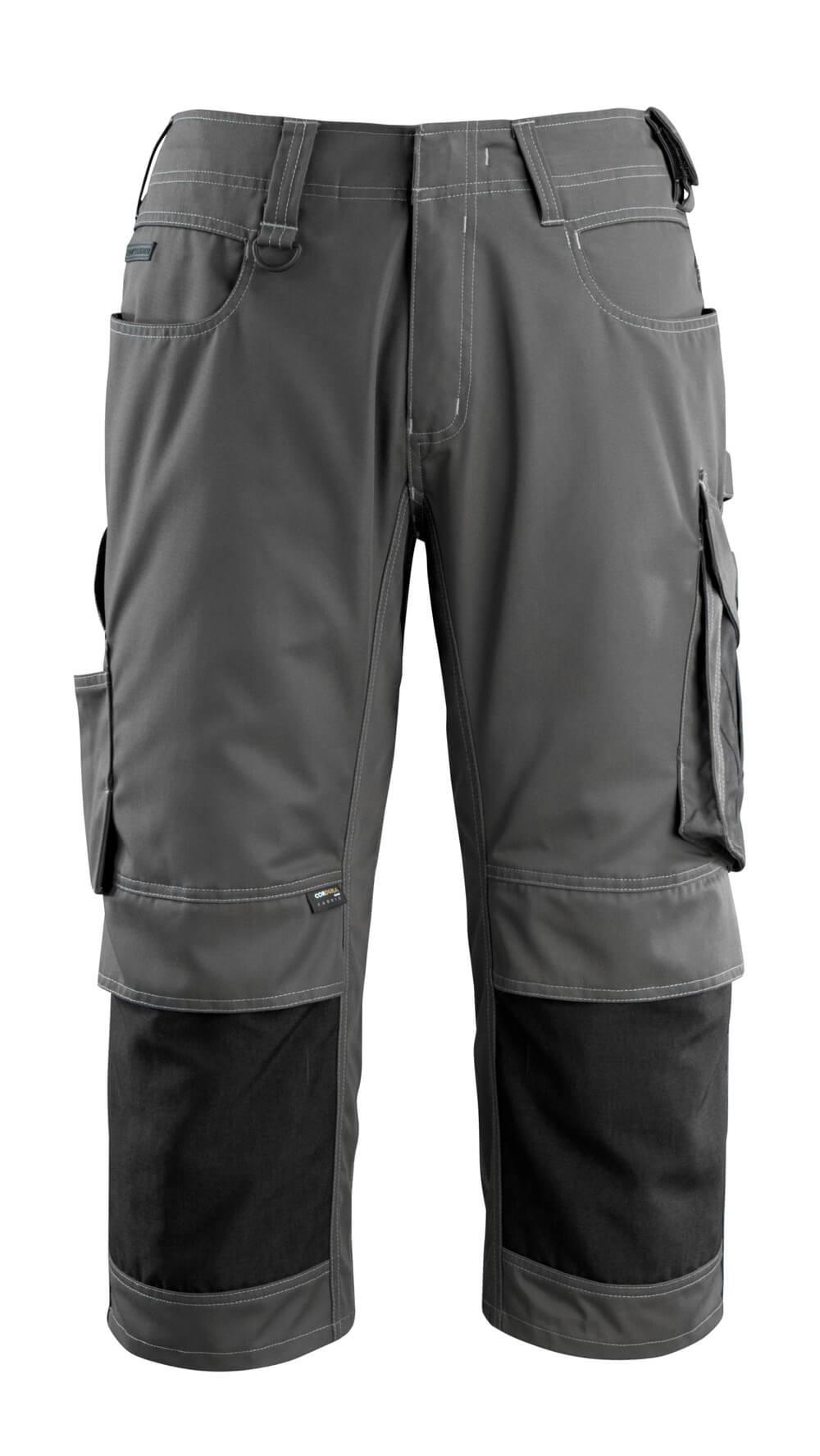 14149-442-1809 ¾ Lunghezza Pantaloni con tasche porta-ginocchiere - antracite scuro/nero
