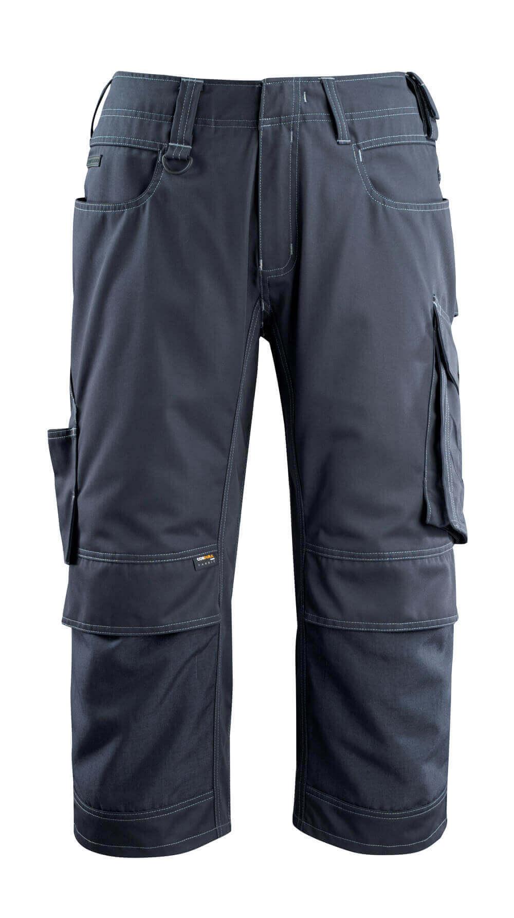 14249-442-010 ¾ Lunghezza Pantaloni con tasche porta-ginocchiere - blu navy scuro