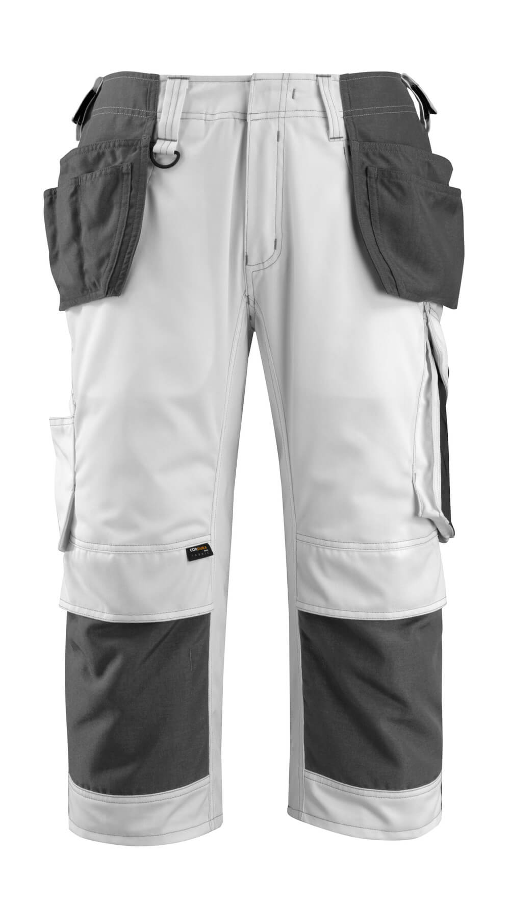 14349-442-0618 ¾ Lunghezza Pantaloni con tasche porta-ginocchiere e tasche esterne - bianco/antracite scuro