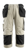 14349-442-5509 ¾ Lunghezza Pantaloni con tasche porta-ginocchiere e tasche esterne - kaki chiaro/nero