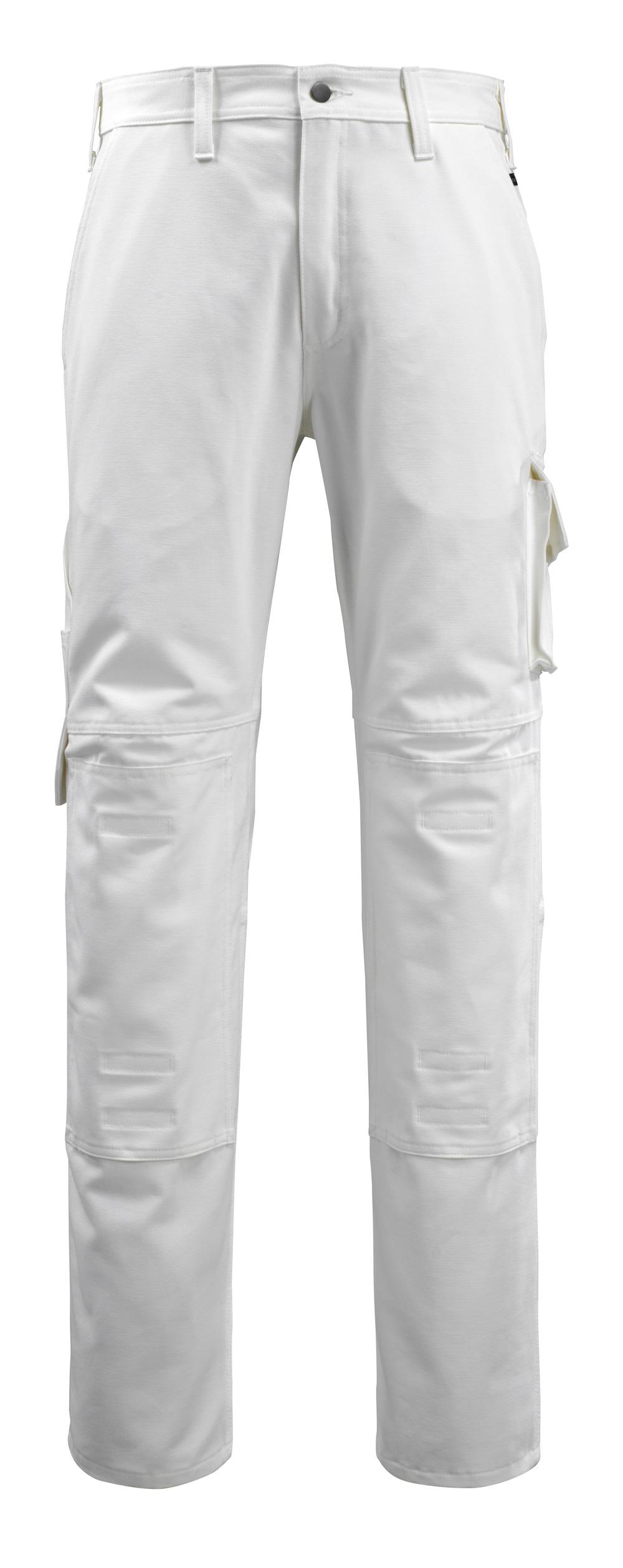 14579-197-06 Pantaloni con tasche porta-ginocchiere - bianco