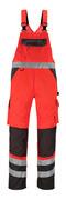 14969-860-A49 Salopette con tasche porta-ginocchiere - rosso hi-vis/antracite scuro