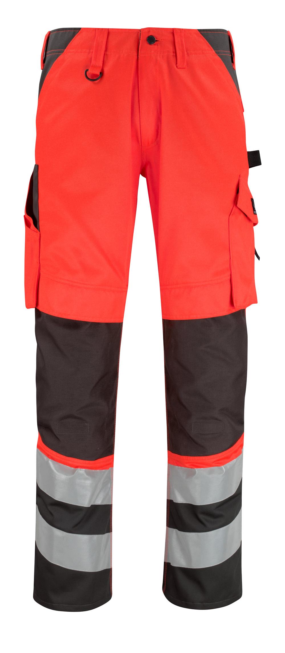 14979-860-A49 Pantaloni con tasche porta-ginocchiere - rosso hi-vis/antracite scuro