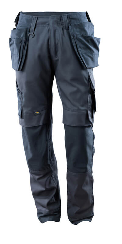 15031-010-010 Pantaloni con tasche porta-ginocchiere e tasche esterne - blu navy scuro