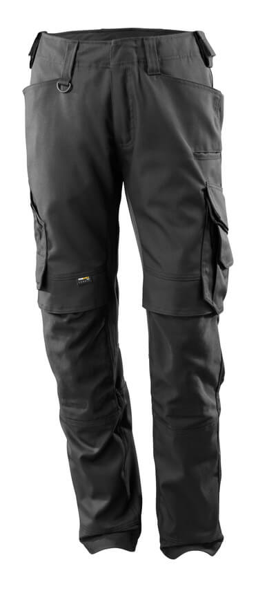15079-010-09 Pantaloni con tasche porta-ginocchiere - nero
