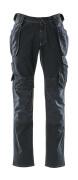 15131-207-86 Jeans con tasche porta-ginocchiere e tasche esterne - blu scuro denim